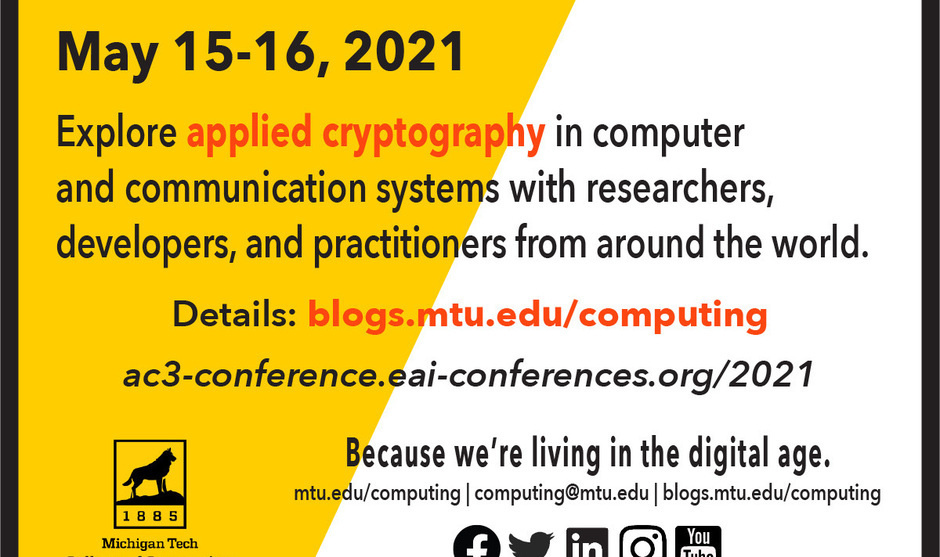 2021 EAI International Conference on Applied Cryptography in Computer and Communications (AC3 2021)