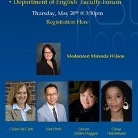 Department of English May Faculty Forum