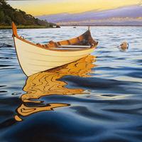 """Sunrise Rowboat"" by artist Pepe Conley"