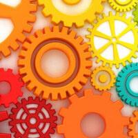 gears in multiple colors