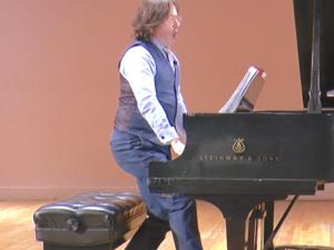 "Eric Moe and Robert Frankenberry perform David Del Tredici's ""Monsters"""