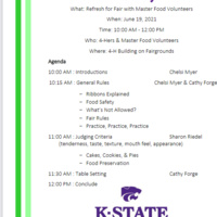 4-H Food Refresher