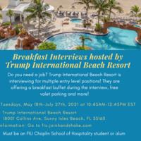 Breakfast Interviews hosted by Trump International Beach Resort