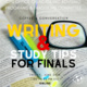Coffee and Conversation: Writing and Study Tips for Finals