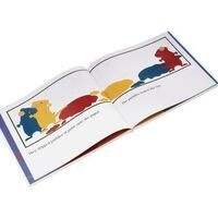 Mouse Paint book graphic featuring red, yellow and blue mice