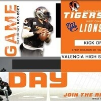 SCV Tigers vs WC Lions Game Flyer 6 5 21