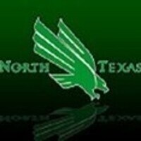North Texas. There is a green eagle in the middle of the words North and Texas.