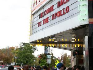 Exterior view of Apollo Theatre.