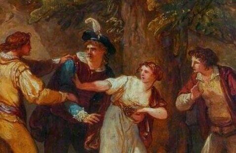 The Two Gentlemen of Verona painting
