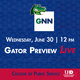 Gator Preview Live, Wednesday, June 30 at 12pm