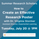 How to Create an Effective Research Poster