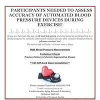 Participants Needed for a Blood Pressure Study