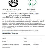 Leavenworth County 4-H Horse Day Camp