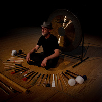 Terry Longshore, Percussionist, with mallets and gong