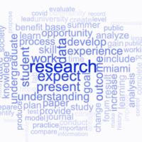 Wordle Communicating Undergrad Research