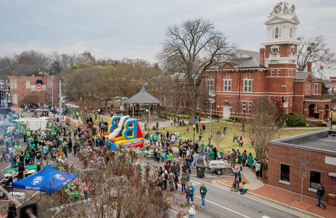 festival in downtown Lawrenceville