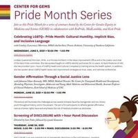 Center for Gems Pride Month Series: Gender Affirmation Through a Social Justice Lens  with Johanna Olson-Kennedy, MD, MHA