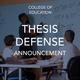 Thesis Defense Announcement