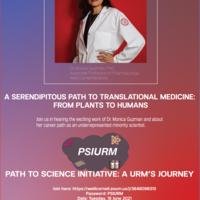 Path to Science Initiative: A URM's Journey- Dr. Monica Guzman,PhD