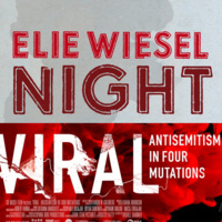 """Covers of """"Night"""" by Elie Wiesel and """"Viral"""" by Andrew Goldberg"""