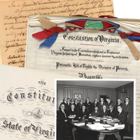 Four Virginia Constitutions on Display