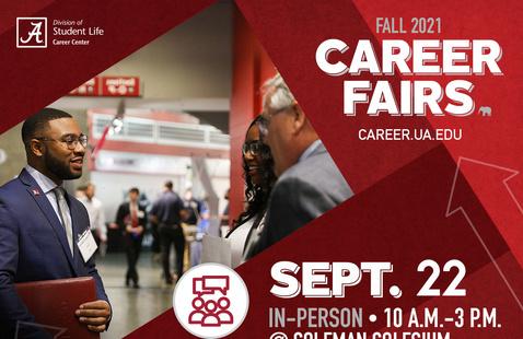 Fall 2021 In-Person Career Fair at Coleman Coliseum