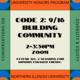 Honors CODE 2 - Building Community