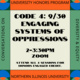 Honors CODE 4 workshop-Engaging Systems of Oppressions
