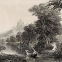Image: Detail. Thomas Cole, engraved by James Smillie,Voyage of Life: Youth(1854-55), engraving. Reynolda House Museum of American Art. Gift of Barbara B. Millhouse.