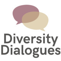 """""""Diversity Dialogues"""" with two speech bubbles"""
