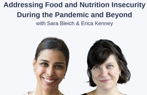 promotional image of Professor Sara Bleich and Professor Erica Kenney