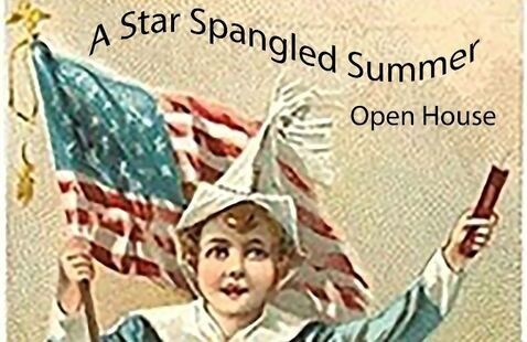antiques open house flyer
