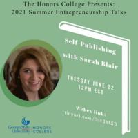Honors Summer Speaker Series: Self-Publishing with Sarah Blair