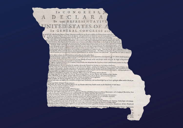 The Declaration of Independence and Missouri Statehood: Debates Over Slavery