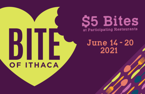 Bite of Ithaca Heart Ad with $5 Bites