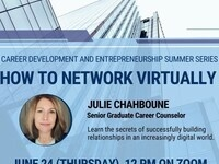 GBA & Young Bucks Summer Series: How to Network Virtually