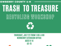 Newberry County 4-H Trash to Treasure Recycling Workshop
