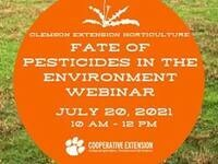 Webinar - Fate of Pesticides in the Environment