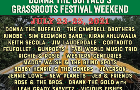 Donna The Buffalo's GrassRoots Festival Weekend - July 23-25!