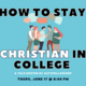 Acts2fellowship Presents: How to Stay Christian in College