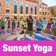 Sunset Outdoor Yoga on Buff Pool Deck