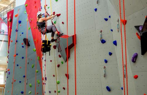 Climbing at the Climbing Center