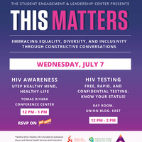 This Matters: HIV Awareness & HIV Testing