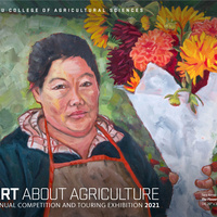 """Art About Agriculture Competition and Touring Exhibition 2021.  """"The Flower Vendor"""" by Tara Kemp"""