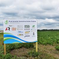 The Flickner Innovation Farm sign