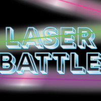 Laser Battle with colored lasers streaking through it