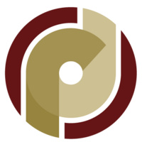 Office of Research Development Logo: O. R. D overlapping in garnet and gold lettering