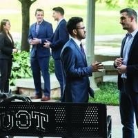 TCU business students