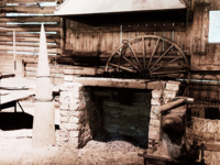 Image of the blacksmith shop at the Sam Houston Memorial Museum.