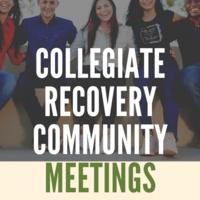 Collegiate Recovery Community Meeting: Healthy Boundaries